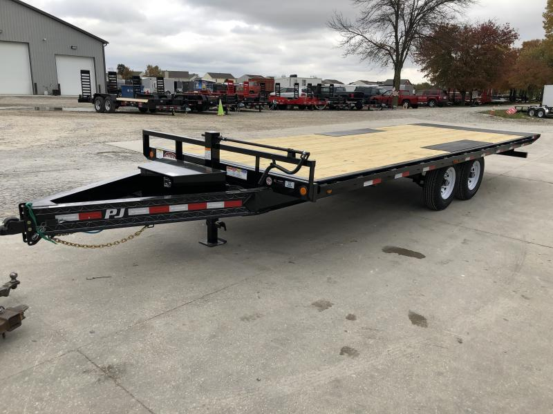2020 96x22 TA Deckover Tilt PJ Trailers T8222 Equipment Trailer - 22 Foot Tilt (GVW:  14000)