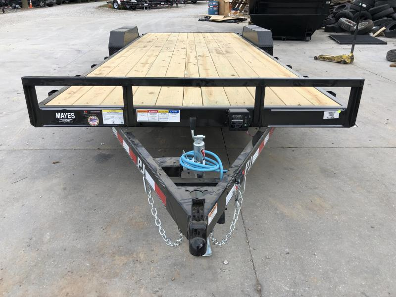 2020 83x22 (20+2) TA PJ Trailers C5222 Car / Racing Trailer - Dovetail - Slide In Ramps (GVW:  7000)