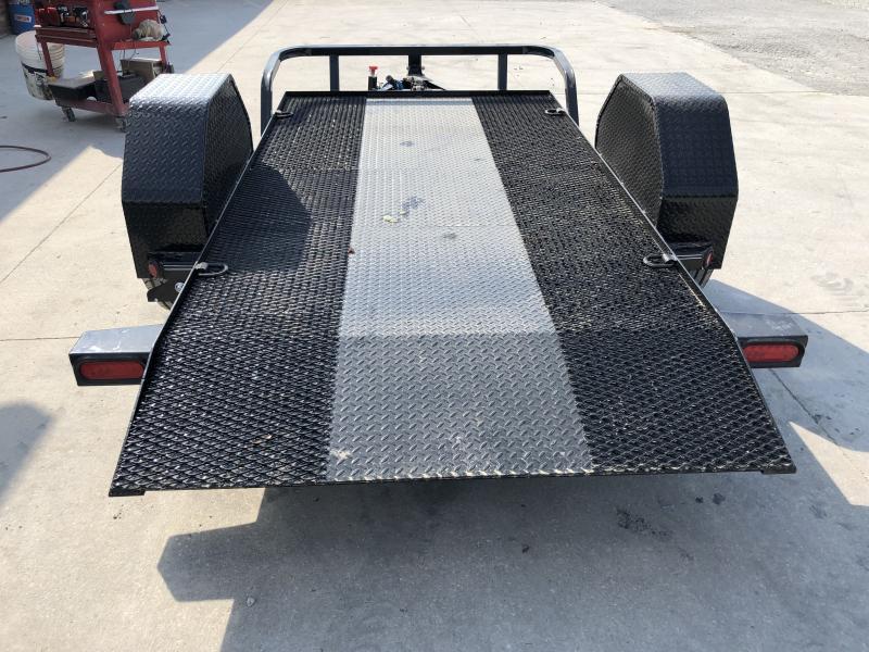 2020 60x10 Scissor Hauler Load Trail SH601007 Equipment Trailer - Steel Floor - D-Rings - Cushion Gravity Down (GVW:  7000)