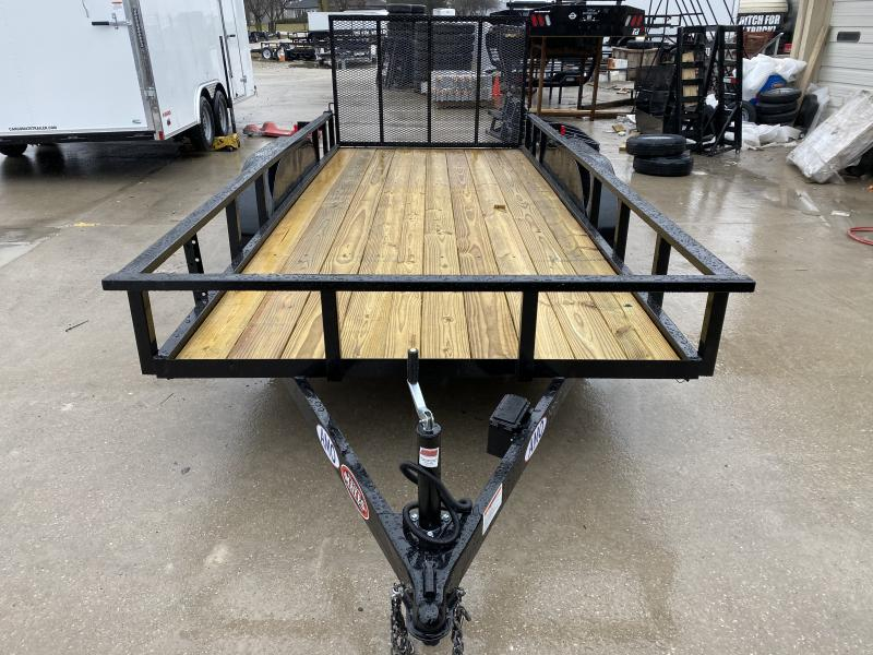 2020 76x16 TA AMO UT162 Utility Trailer - Spring Assist Tailgate - 15 Inch Tires and Wheels (GVW:  7000)