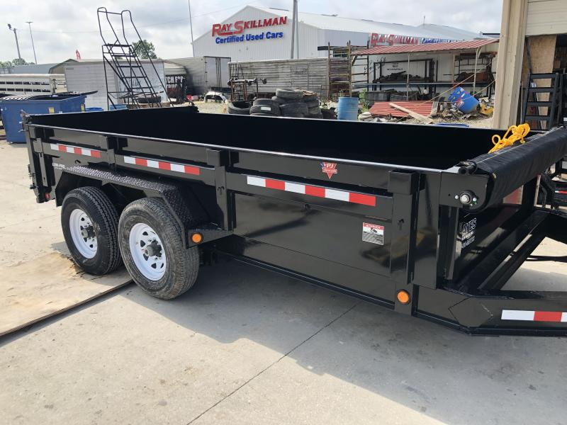 2020 83x14 Low Pro TA PJ Dump Trailer - Split/Spread Gate - Tarp Kit (GVW:  14000)