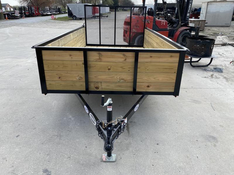 2020 76x12 SA American Manufacturing Operations (AMO) US121 Utility Trailer - High Sides - Tailgate (GVW:  2990)