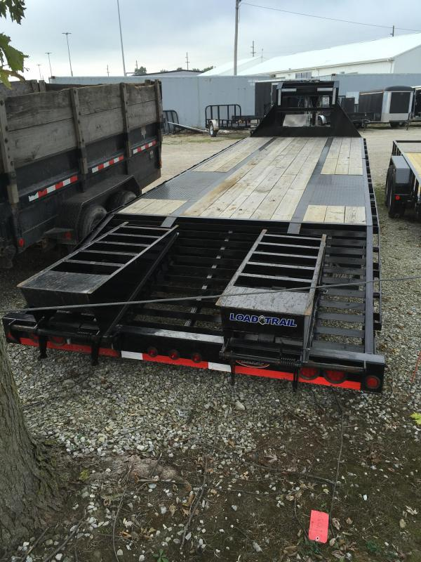 Used 2018 102x28(23+5' Dovetail) Load Trail GP28 Flatbed Trailer - w/ 5' Self Clean Dove w/ 2 Flip-over Ramps (GVW: 24000) Gooseneck