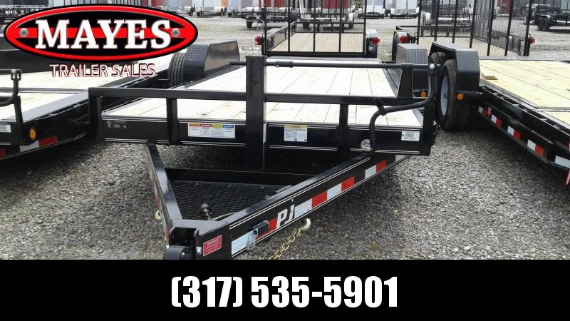 2020 83x20 (4+16) TA PJ Trailers T6202 Equipment Trailer - 16 Foot Tiltable Deck (GVW:  14000)