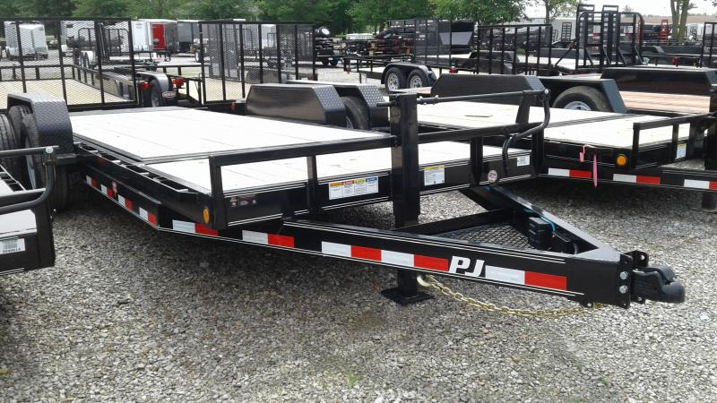 2020 74x20 (4+16) TA PJ Trailers T6202 Equipment Trailer - 16 Foot Tiltable Deck (GVW:  14000)