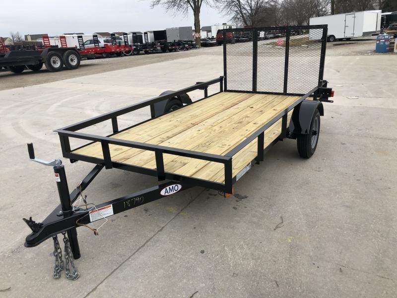 2020 5X10 SA AMO UL101 Utility Trailer - Treated Wood Floor - Tailgate (GVW:  2000)