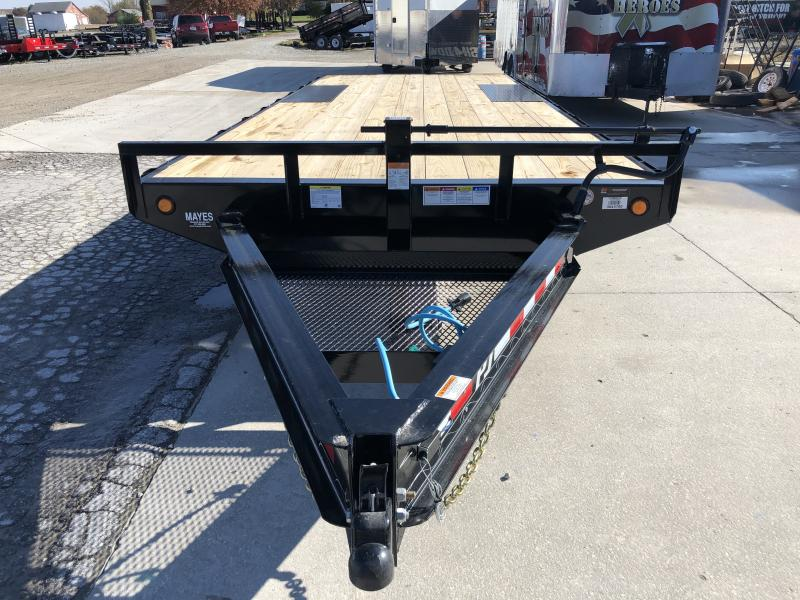 2020 102x20 TA Deckover PJ Trailers F8202 Equipment Trailer - Straight Deck - Slide In Ramps (GVW:  14000)