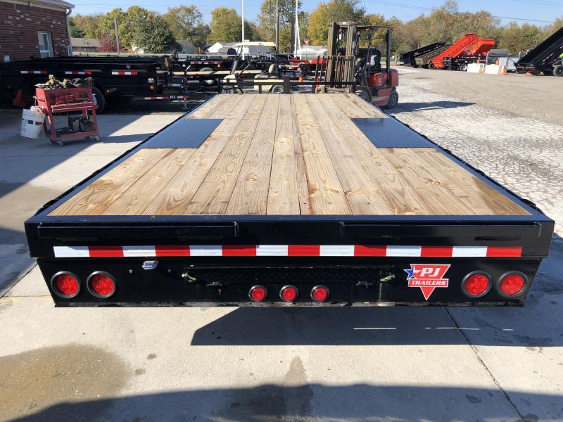 2020 102x20 TA Deckover PJ Trailers F8202 Equipment Trailer - Straight Deck - Slide In Ramps (GVW:  14000)