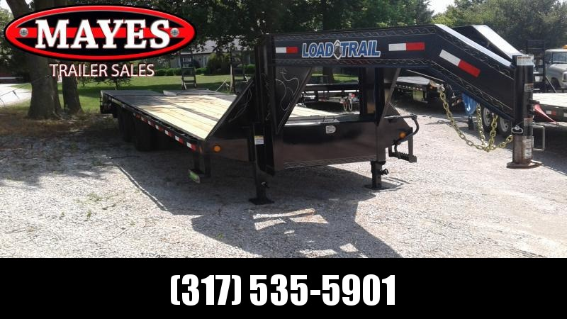 2019 102x25 (20+5) Load Trail GP0225102 Gooseneck Equipment Trailer - Self Clean Dove - Tool Box (GVW:  22000)