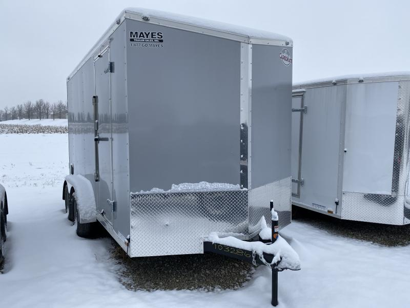2020 7x14 TA Cargo Mate EHW714TA2 Enclosed Cargo Trailer - .030 Metal Upgrade - Side by Side Package - 12 Inch Additional Height (GVW:  7000)