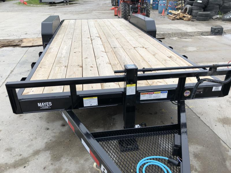 2020 83x20 (18+2) CC202 PJ Equipment Trailer - 6 Inch Channel Frame - Slide In Ramps (GVW:  14000)