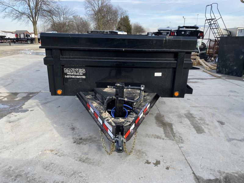 2020 83x14 TA Load Trail DT8314072 Dump Trailer - 3-Way Gate - Slide In Rear Ramps - Scissor Hoist - Tarp Kit (GVW:  14000)