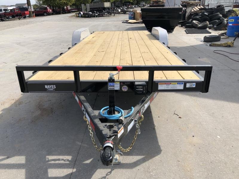 2020 83x22 TA PJ Trailers CE222 Equipment Trailer - Slide In Ramps - 5 Inch Channel (GVW:  9899)