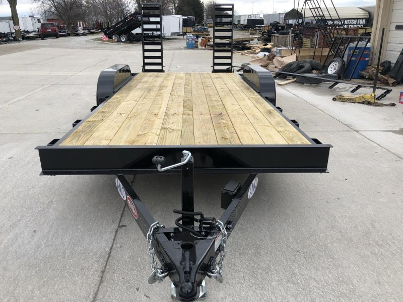 2020 82x18 TA AMO UC182 Flatbed Trailer - Straight Deck - Treated Wood Floor - Stand Up Ramps (GVW:  9990)