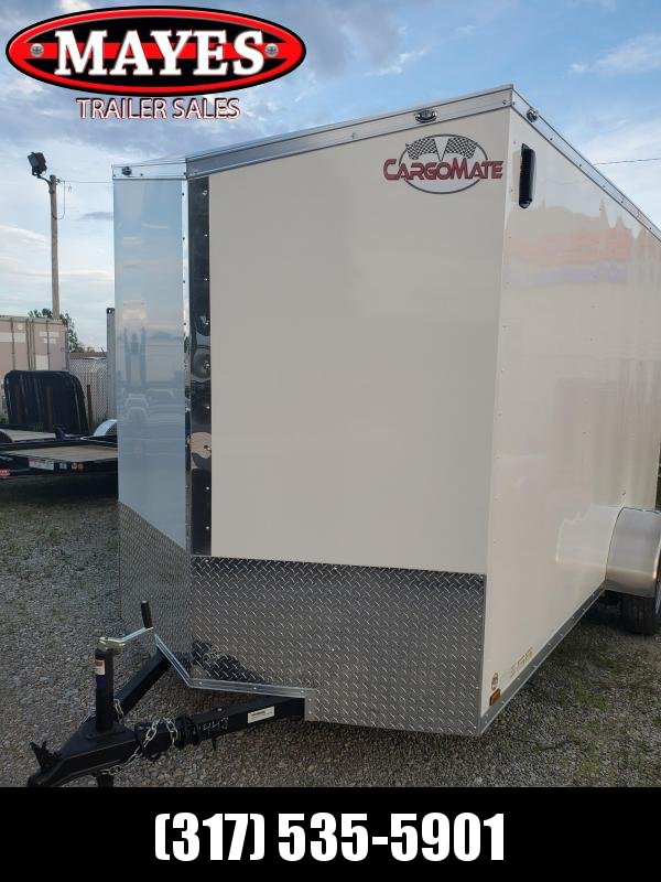 2021 6.5x12 SA Cargo Mate EHW612SA Enclosed Cargo Trailer - Ramp Door - Side by Side Pkg. - 6.5 Wide Body - 12 Inch Additional Height (GVW:  2990)