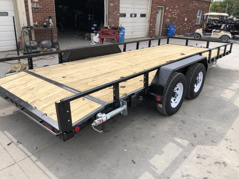 2020 83x20 (18+2) TA PJ Trailers UL202 Utility Trailer - Dovetail - DP Steel Fenders - Slide In Ramps (GVW:  9899)
