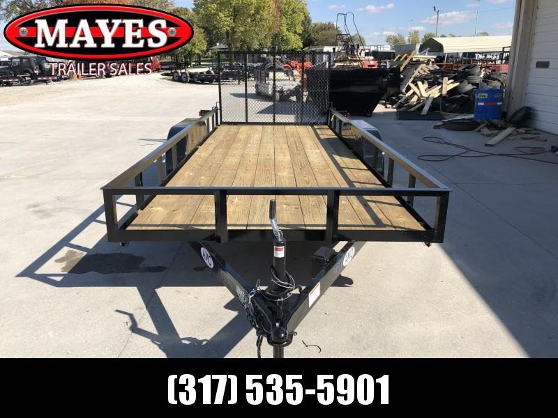 2020 76x18 TA AMO UT182 Utility Trailer - Treated Wood Floor - Tailgate (GVW:  7000)