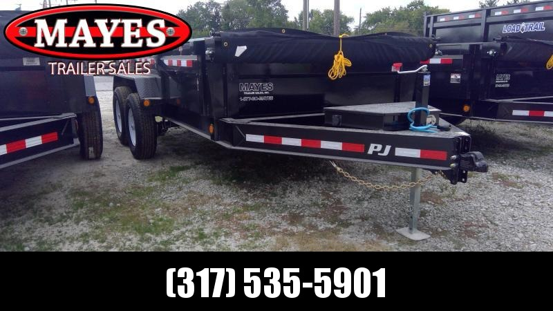 2020 83x14 PJ Trailers Low Pro Dump (DL) Dump Trailer - Tarp Kit - (GVW: 14000)(6in Cylinder Upgrade)