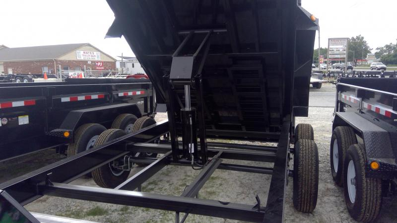 2020 83x14 PJ Trailers Low Pro Dump (DL) Dump Trailer - Tarp Kit - (GVW: 14000)(6in Cylinder Upgrade)