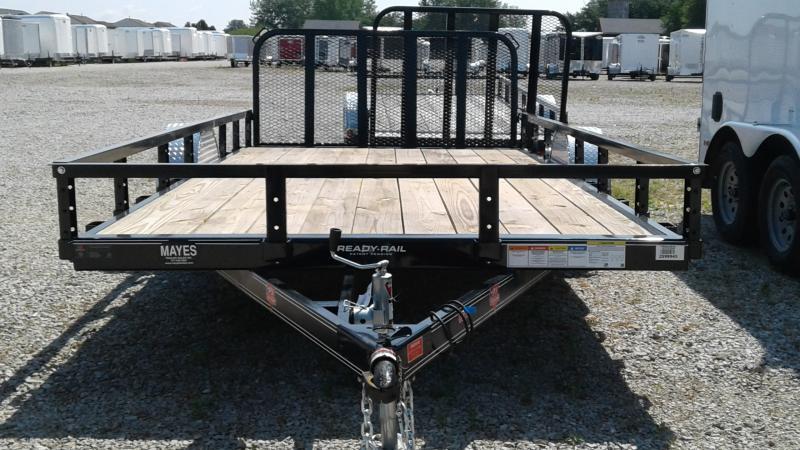 2020 83x14(12+2' Dovetail) PJ Trailers U8 Utility Trailer - w/ 3' Fold-up Gate (GVW: 2995)