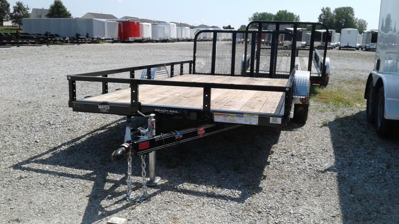 2020 83x14(12+2' Dovetail) PJ Trailers U8 Utility Trailer - w/ 3' Fold-up Gate (GVW: 2995)