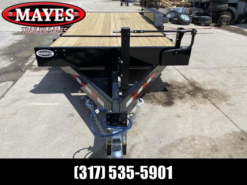 2020 B-B TBCT2014ET Equipment Trailer - 20 Foot (4+16) TA Tilt - Torflex Axles - Pallet Fork Holders - 12 Inch O/C Crossmembers - Treated Wood Floor (GVW:  14000)