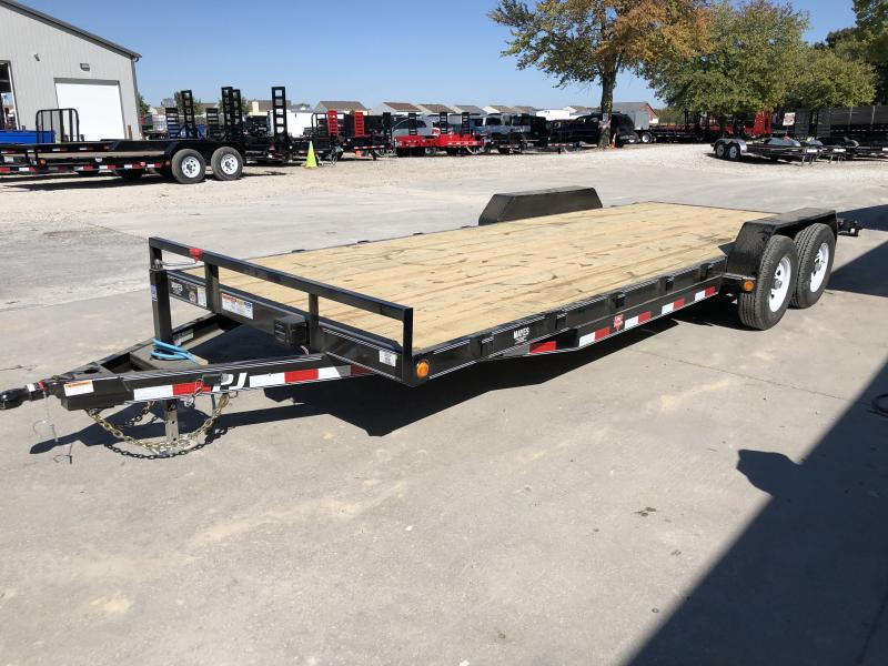 2020 83x22 (20+2) TA PJ Trailers CE222 Equipment Trailer - Dovetail - Rear Slide In Ramps (GVW:  9899)