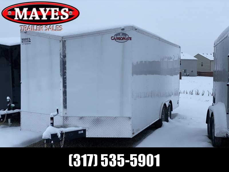 2020 102x20 TA Cargo Mate EHW8.520TA3 Enclosed Cargo Trailer - Ramp Door - Additional Crossmembers on Floor - D-Rings (GVW:  9800)