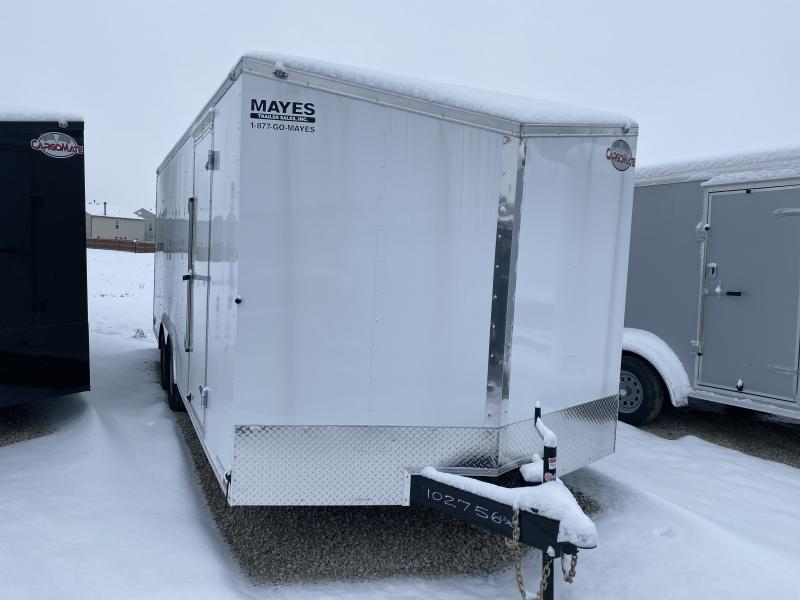 2020 102x20 TA Cargo Mate EHW8.520TA3 Enclosed Cargo Trailer - Ramp Door - Additional Crossmembers on Floor - D-Rings (GVW:  9800)