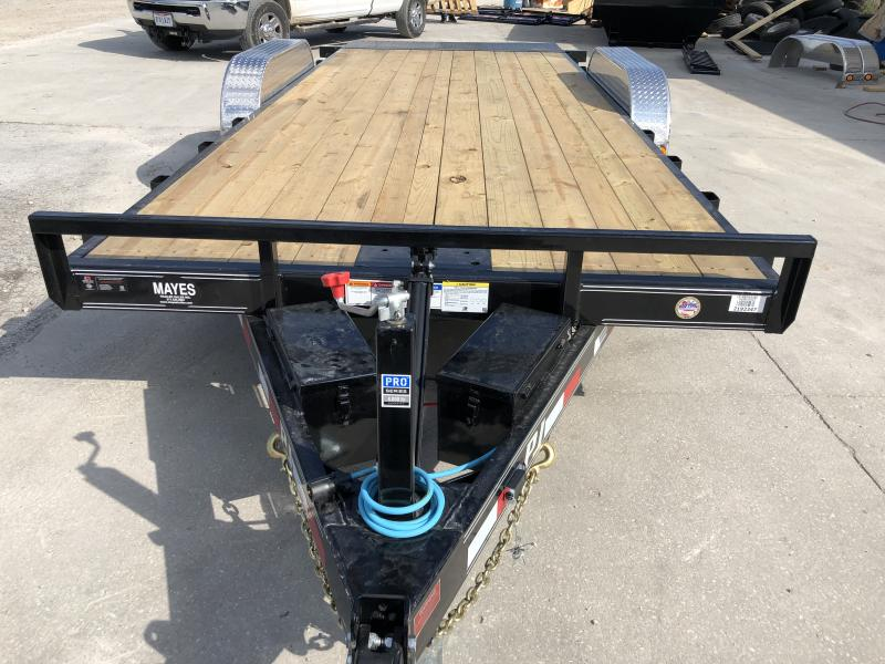 2020 83x20 TA Hydraulic Quick Tilt PJ Trailers TH202 Equipment Trailer - Treated Wood Floor - Winch Plate (GVW:  9899)