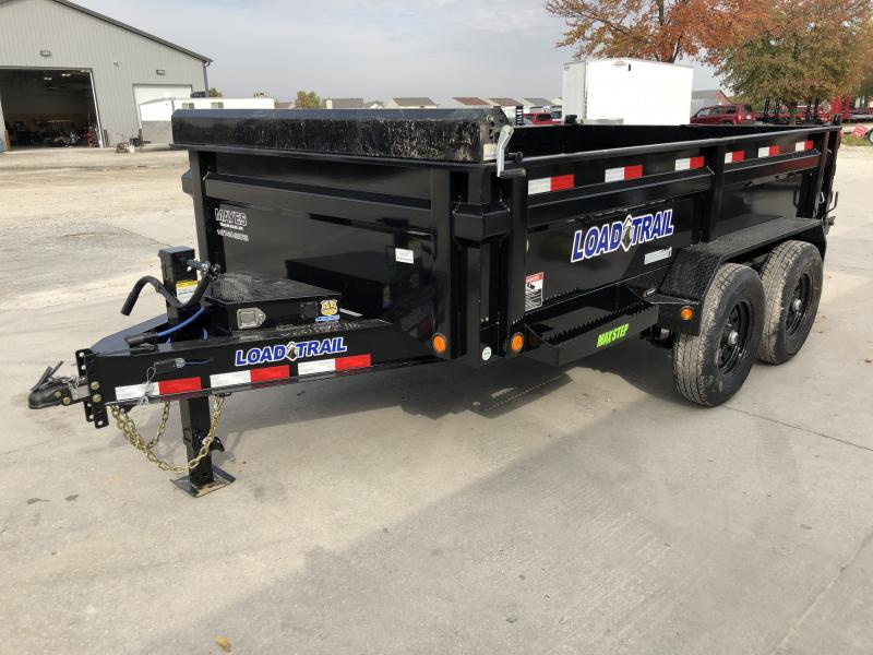2020 83x12 TA Load Trail DT8312072 Dump Trailer - 3-Way Gate - Slide-In Ramps - Scissor Hoist - Max Step (GVW:  14000)
