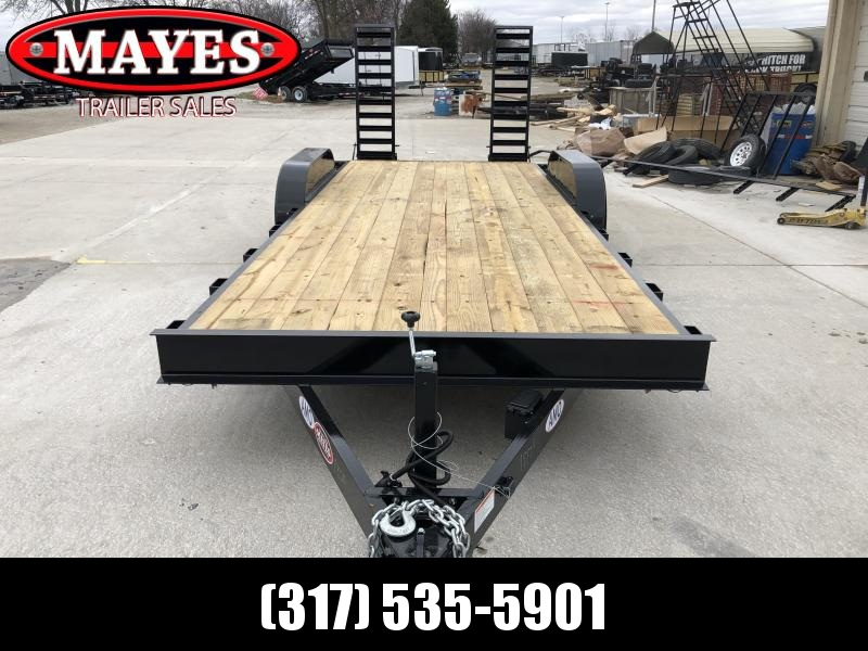 2020 82x20 (18+2) TA AMO UC202 Flatbed Trailer - Dovetail - Treated Wood Floor - Stand-Up Ramps (GVW:  9990)