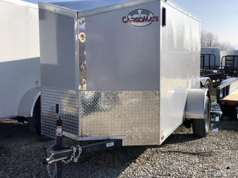 2020 5x10 SA Cargo Mate EHW510SA Enclosed Cargo Trailer - .030 Metal Upgprade  - Screwless Exterior Metal - E & V Series Pkg. #2 - Ramp Door - Slant V-Nose (GVW:  2990)