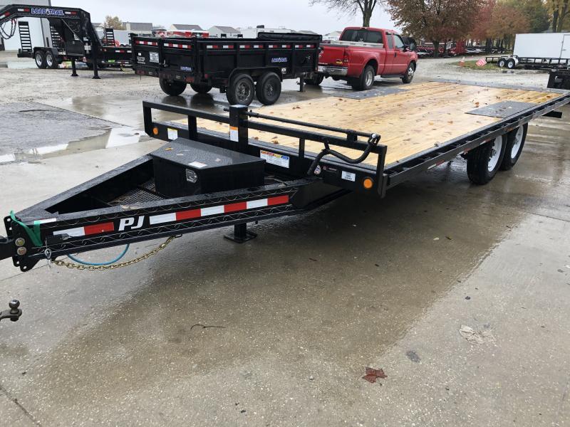 2020 96x22 TA Deckover Tilt 2020 T8222 Equipment Trailer - Treated Wood Floor - 22 Foot Tilt (GVW:  14000)