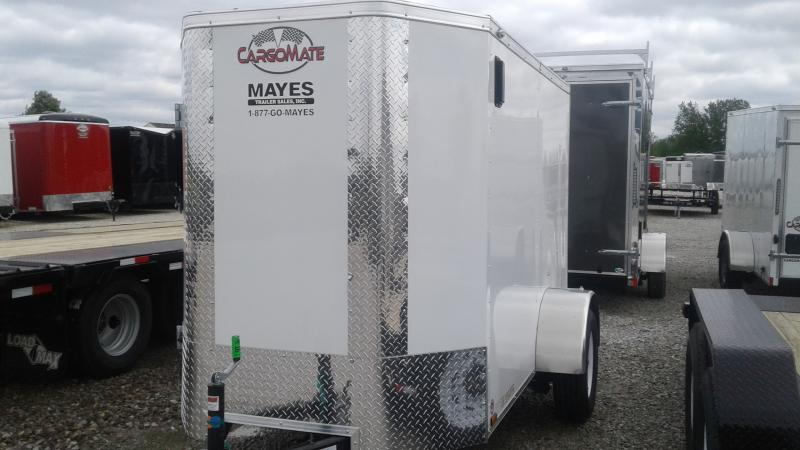 2020 5x8 SA Cargo Mate EHW58SA Enclosed Cargo Trailer - Ramp Door - 6 Inch Additional Height (GVW:  2990)