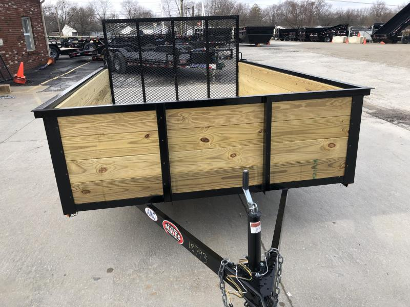 2020 76X10 SA AMO US101 Utility Trailer - High Side - Treated Wood Floor - Tailgate (GVW:  2990)