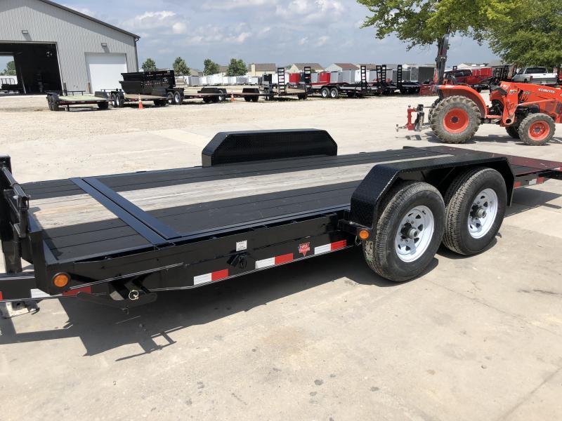 2019 83x18(2+16) T6182 PJ Tilt Trailer - 2 Foot Stationary + 16 Foot Tilt Deck - Blackwood Pro Outer Deck, Torsion Axle (GVW:  14000)
