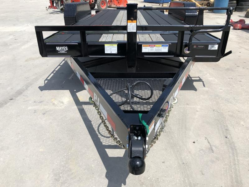 2019 83x18(2+16) T6182 PJ Tilt Trailer - 2 Foot Stationary + 16 Foot Tilt Deck - Blackwood Pro Outer Deck, Torsion Axle (GVW:  14000)