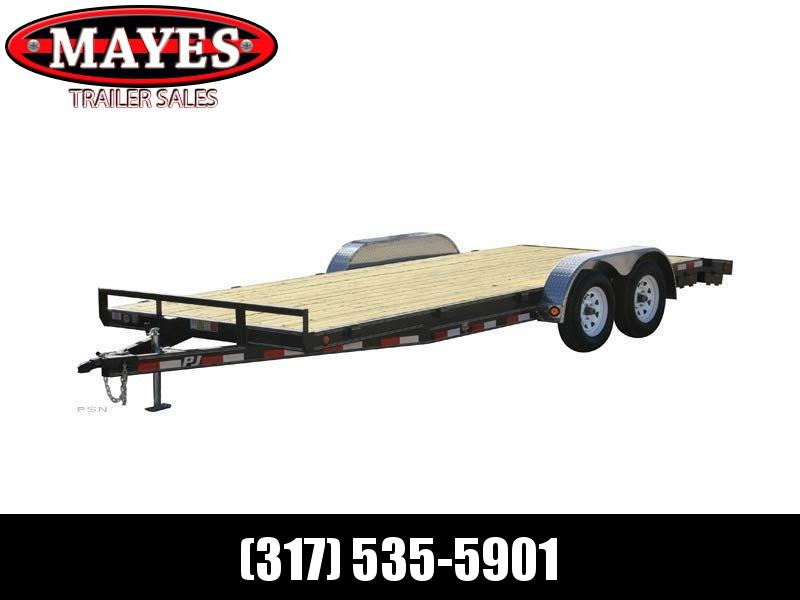 2020 83x16(14+2) PJ Trailers 5 in. Channel Carhauler (C5) Car / Racing Trailer - w/ 5ft Rear Slide-in Ramps (GVW: 7000)