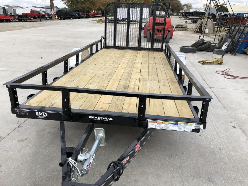 2020 72x14 SA PJ Trailers U2141 Utility Trailer - Straight Deck - Fold In Gate (GVW:  2995)