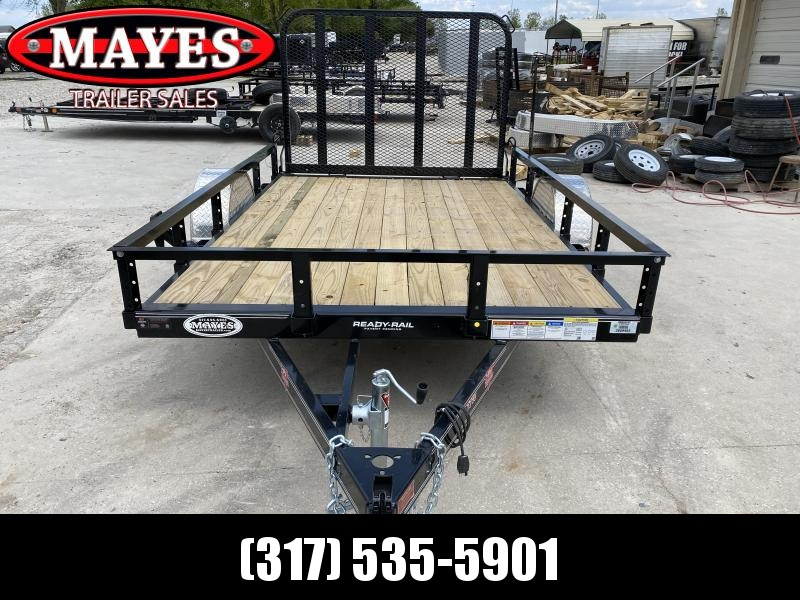 2020 PJ Trailers U7101 Utility Trailer 77x10 SAUT - Straight Deck - Fold In Gate - Spare Tire MOUNT ONLY (GVW:  2995)