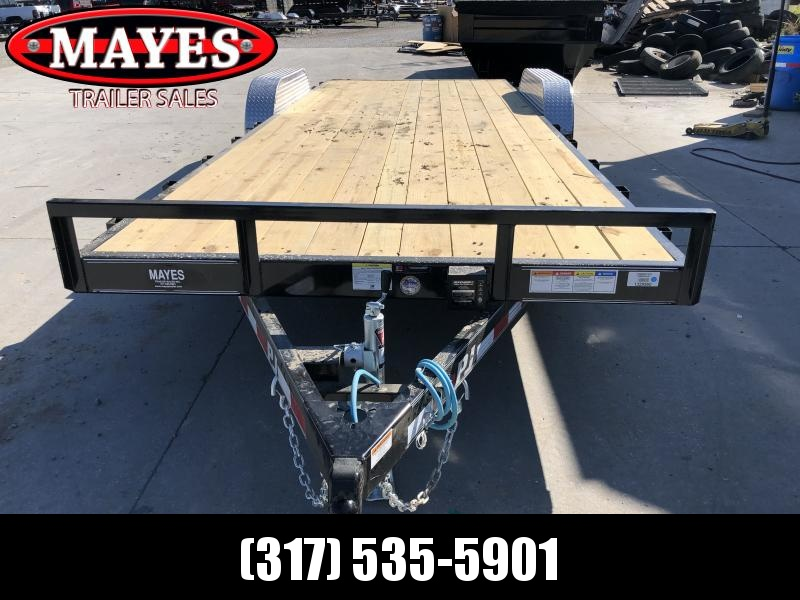 2020 83x22 (20+2) TA PJ Trailers C5222 Car / Racing Trailer - Slide In Ramps - Dovetail (GVW:  7000)