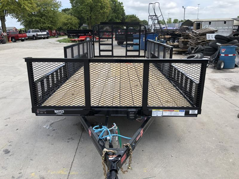 2020 83x18 (16+2) TA PJ Trailers UL182 Utility Trailer - Fold Up Gate - ATV Ramps - 2 Foot Expanded Metal Sides (GVW:  9899)