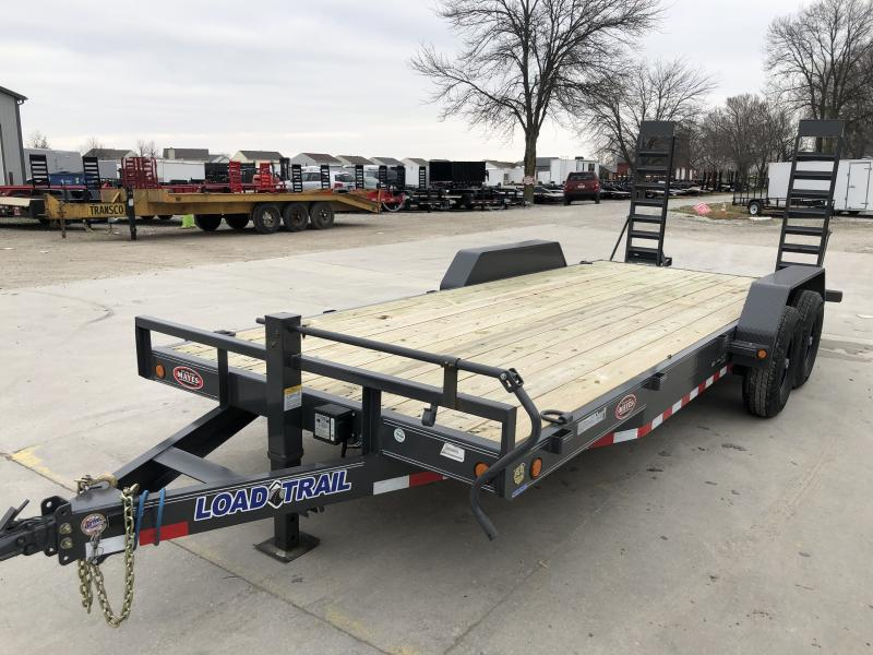2019 83x20 (18+2) TA Load Trail CH8320072 Car / Racing Trailer - Fold Up Ramps - D-Rings (GVW:  14000)