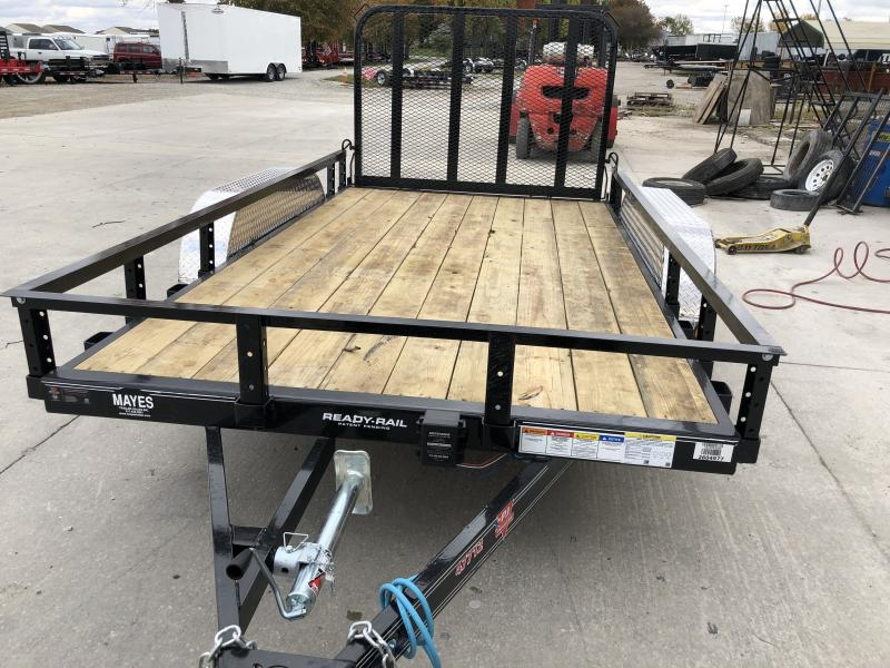 2020 77x12 TA PJ Trailers UK122 Utility Trailer - Straight Deck - Fold In Gate (GVW:  7000)
