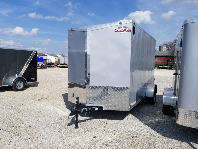 2021 6.5x12 SA Cargo Mate EHW612SA Enclosed Cargo Trailer - Ramp Door - .030 Metal Upgrade - Side by Side Package - 12 Inch Additional Height - 74 Inch Rear Ramp Door Width (GVW:  2990)