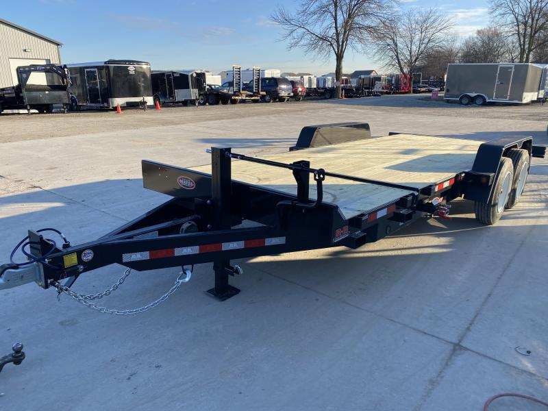 2020 B-B 83x20 (4+16) TA Tilt TBCT2016ET Equipment Trailer - 8x2 Tube Frame - D-Rings - Cushioned Cylinder (GVW:  16000)