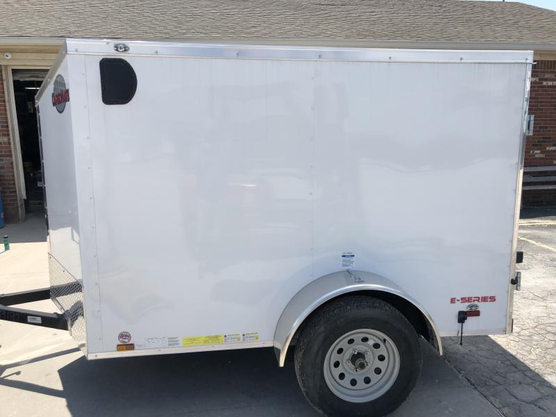 2019 5x8 SA Cargo Mate EHW58SA Enclosed Cargo Trailer - Double Door - Slant Nose (GVW:  2990)