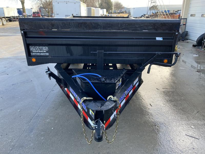 2020 96x16 TA Pintle Deckover Load Trail DZ9616072 Dump Trailer - 18 Inch Fold Down Sides - 3-Way Gate - Scissor Hoist (GVW:  14000)