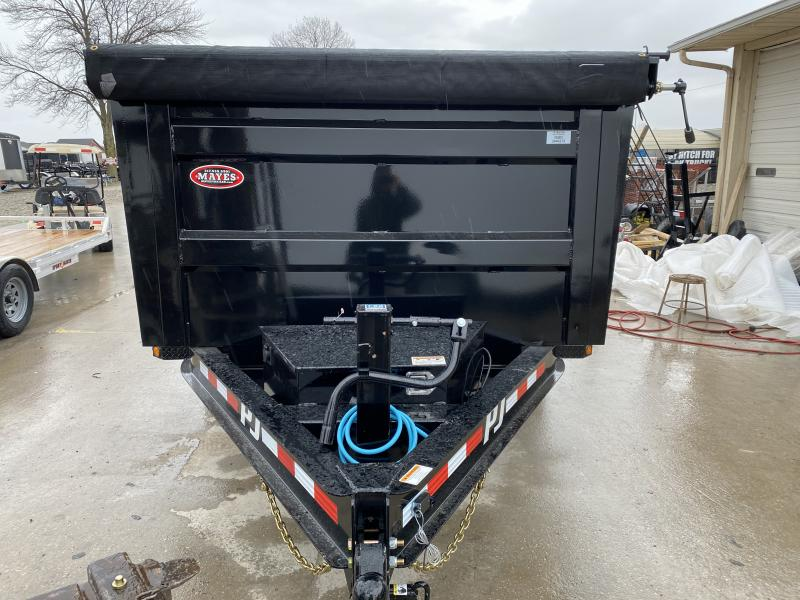 2020 83x14 TA PJ DM142 Low Pro High Side Dump Trailer - Split/Spread Gate - 10K Jack Upgrade - Spare Tire MOUNT ONLY (GVW:  14000)